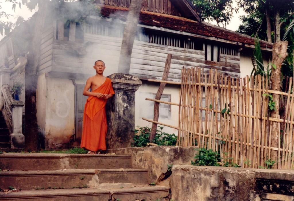 A novice near Luang Prabang.